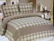Regis Hill Contemporary Reversible Cotton 3pcs Quilt Set