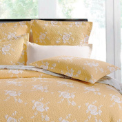 Rose Melody Luxury Hand Quilted Standard Pillow Sham By Calla Angel