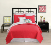 Trina Turk Santorini Coral Full/Queen Quilted Coverlet 88 x 90