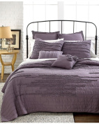 Nostalgia Home Bedding Neveah Purple King Quilt