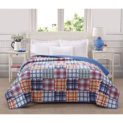 Ashley Cooper Patchwork Plaid Print Quilt in Queen Size