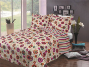 BALTIC LINEN COMPANY Luxury Fashionable Reversible Printed Mini Quilt Sets, King, Fanfare