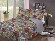 BALTIC LINEN COMPANY Luxury Fashionable Reversible Printed Mini Quilt Sets, King, Floral Fantasy