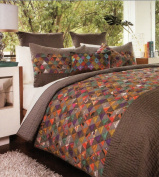 Keeco E8A001A27MUL Mini Triangles Handcrafted Quilt, Full/Queen