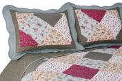 Pegasus Home Fashions Vintage Collection Oakridge Reversible Quilt/Sham Set, Full/Queen