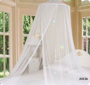 Bed Canopy Mosquito Netting with Hook White Good Night 1PC