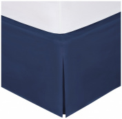 Levinsohn Magic Skirt Wraparound Tailored Bedskirt, Queen, Navy