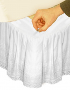 Veratex Hike Up Your Skirt Embroidered Bedskirt