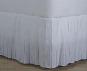 D. Kwitman and Son Cheerleader Bed Ruffle, 46cm Drop, Queen, White