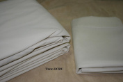 50/50 Poly Cotton Percale Daybed Bedskirt - Tailored with Kick pleats with Split Corners 36cm drop - Ecru