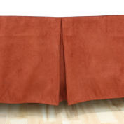 Chooty Passion Suede Drop Bedskirt, Brick