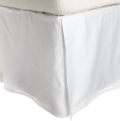 300 Thread Count Egyptian Cotton Queen White Solid Bed Skirt