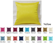 Creative Faux Silk Solid Euro Shams / Pillow Covers 26 by 26
