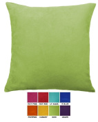 DreamHome - Solid Faux Suede Decorative Pillow Cover/Euro Sham, 70cm X 70cm , Available in 8 Electrifying Colours