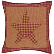 Ninepatch Star Quilted Pillow 41cm x 41cm