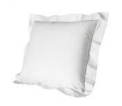 Cuddledown 400 Thread Count Sateen Pillow Shams, European, White