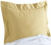CUDDLEDOWN 400 Thread Count Pillow Sham, European, Lemon