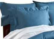 CUDDLEDOWN 400 Thread Count Pillow Sham, King, Sapphire