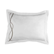 Marc Thee Home Strands Collection 350TC 100% Cotton Twill Weave Embroidered Pillow Sham