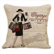New Black Shopping Lady Pop Art Fashion Decorative Pillow Case Cushion Cover Sham