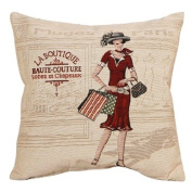 New French Haute Couture Lady Fashion Decorative Pillow Case Cushion Cover Sham