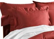 CUDDLEDOWN 400 Thread Count Pillow Sham, King, Spice