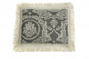 La Rochelle Antique Medallion Euro Sham, Steel Blue