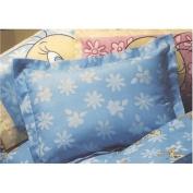 LOONEY TUNES - Tweety Floral - Blue Flowers - Pillow Sham / Pillowsham
