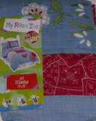 My Room Too Quilted Red Blue Embellished Standard Pillowcase Sham Pillow Case