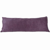 Purple Microsuede Body Pillow Cover With Double Sided Zippers 50cm x 140cm