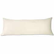 Ivory Microsuede Body Pillow Cover With Double Sided Zippers