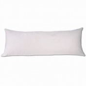 50cm x 140cm Pure White Microsuede Body Pillow Cover With Double Sided Zippers