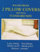 Pillow Protector Set of 2 Shields from Allergens, Moisture, and Bacteria