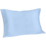 Spasilk 100% Pure Silk Pillowcase for Facial Beauty and Hair Health, Standard/Queen, Blue