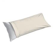 Levinsohn Fresh Ideas Cotton Rich 50cm x 140cm Body Pillow Covers, Ivory