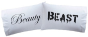 """Pillowcases """"Beauty & Beast """" Super Soft Pillowcases-romantic Valentines Gifts for Couples, Cute Valentine Day Gift Idea"""