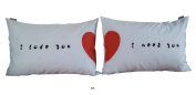 """""""I Love You I Need You"""" Couple Pillowcases-romantic Valentine's Day Gifts for Couples, Cute Valentines Gifts for Him or Her, Romantic Anniversary Gifts"""