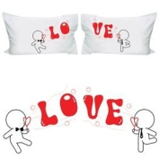 "BoldLoft ""My Love is Yours"" Gay Couple Pillowcases-Gay Gifts,Valentine's Day Gifts for Gays,Gay Wedding Gifts"