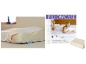 Gotcha Covered Contour Memory Foam Pillowcase - Medium Size, White