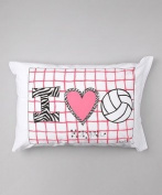 Bunnies and Bows - I Heart Volleyball - Personalised Pillowcase