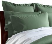 CUDDLEDOWN 400 Thread Count Pillowcase, Standard/Queen, Ivy