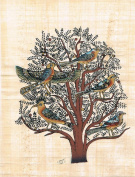 Hand Painted in Egypt Natural Papyrus Shows the Tree of Life. 20cm x 30cm