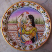 Lady looking into Mirror, Art Craft & Painting on Marble
