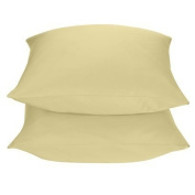 2 Target Home 325 Thread Count Wrinkle Free Pillowcase - Gold Colour - Standard/Queen Size