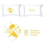 BoldLoft Zodiac Signs Love Gifts- Gemini Pillowcase-Ideal Anniversary Gifts, Birthday Gifts, Wedding Gifts, Valentine Gifts, Romantic Gifts for HIM or HER