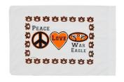Standard Pillowcase - Peace Love Auburn War Eagle