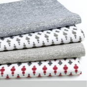 BAR III, IKAT Red and Grey dots Standard Pillowcases