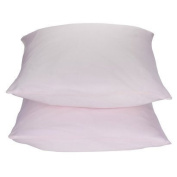 2 Target Home 325 Thread Count Wrinkle Free Pillowcase - Pink Colour - Standard/Queen Size