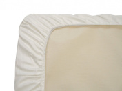 Twinkle Luxury Soft White Fitted Sheet of 100-Percent Pure Cotton for Home School Hotel Hospital Twin Queen King Size