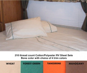 60x75 Short Queen Sheet Set for Campers, RVs, Travel Trailers Cotton/Polyester blend Colour